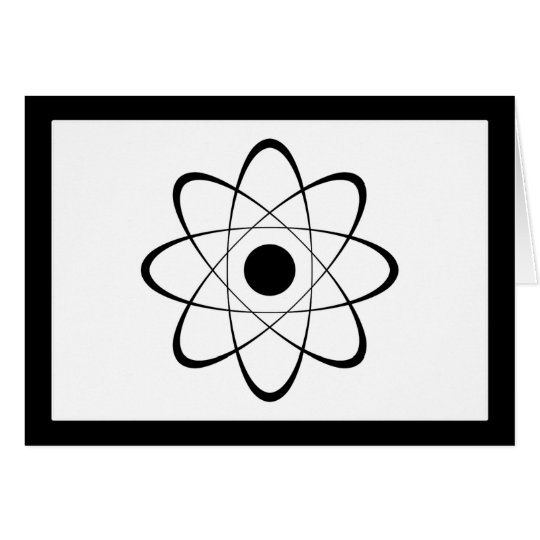 Stylized Atom Symbol Card