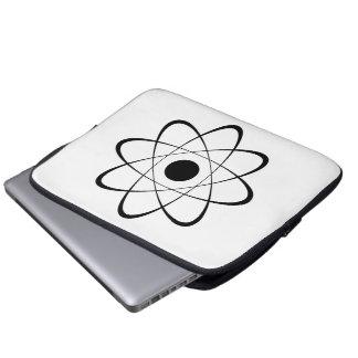 Stylized Atom Symbol Computer Sleeves