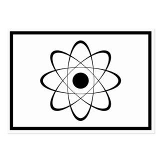 Stylized Atom Symbol Large Business Card