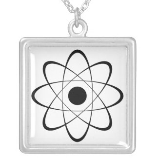 Stylized Atom Symbol Necklaces