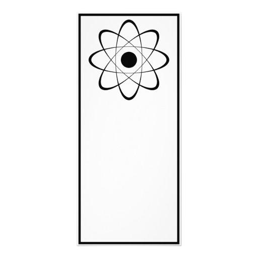 Stylized Atom Symbol Rack Card Template