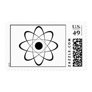 Stylized Atom Symbol Stamp