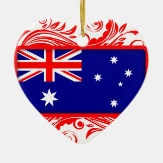 Stylized Australian Flag Ceramic Ornament