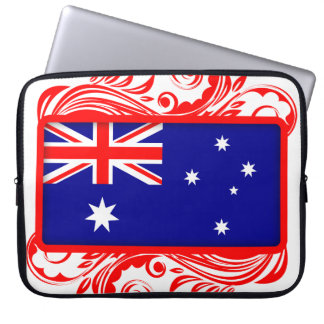 Stylized Australian Flag Laptop Computer Sleeve