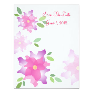 Stylized Azaleas Pink Save The Date Cards
