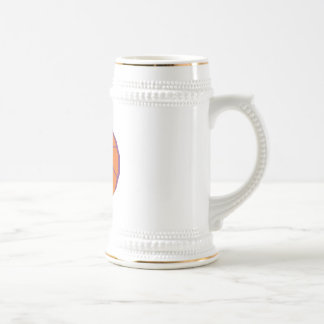 stylized basketball beer stein
