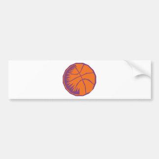 stylized basketball bumper sticker