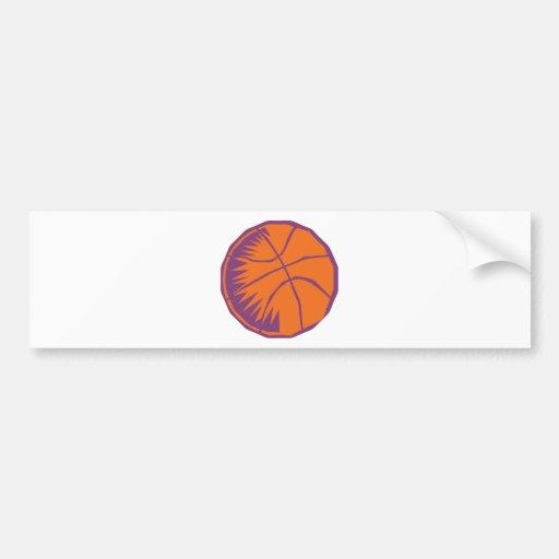 stylized basketball car bumper sticker