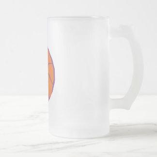 stylized basketball coffee mug