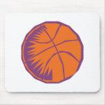 stylized basketball mouse pad