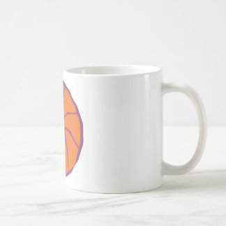 stylized basketball mug