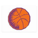 stylized basketball postcard