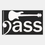 Stylized Bass Guitar Sticker