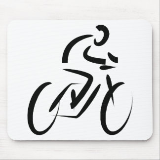 Stylized Bicycle Silhouette Mouse Pad