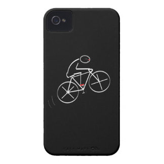 Stylized Bicyclist Design iPhone 4 Covers