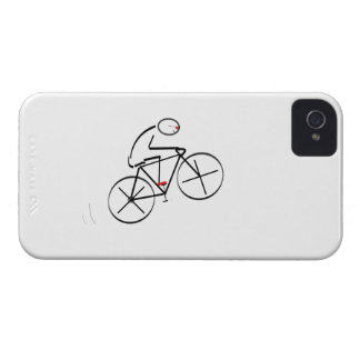 Stylized Bicyclist Design iPhone 4 Case