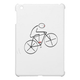 Stylized Bicyclist Design Cover For The iPad Mini