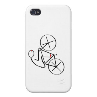 Stylized Bicyclist Design Case For iPhone 4