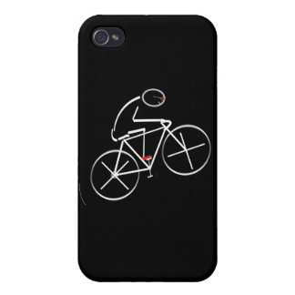 Stylized Bicyclist Design iPhone 4 Cases