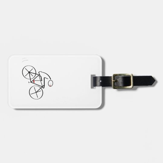 Stylized Bicyclist Design Luggage Tag