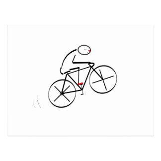 Stylized Bicyclist Design Postcard