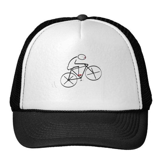 Stylized Bicyclist Design Trucker Hat