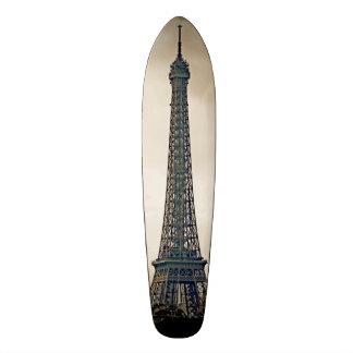 Stylized Black & white image of the Eiffel Tower Skateboard Deck