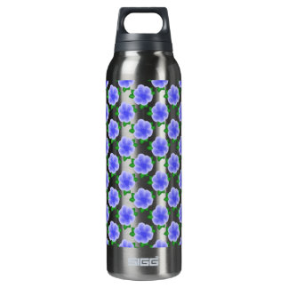Stylized Blue Flower SIGG Thermo 0.5L Insulated Bottle