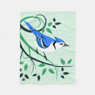 Stylized Blue Jay Gifts Fleece Blanket