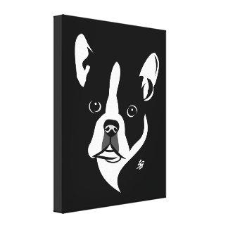 Stylized Boston Terrier Canvas Prints