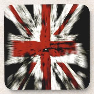 Stylized British Flag Beverage Coaster