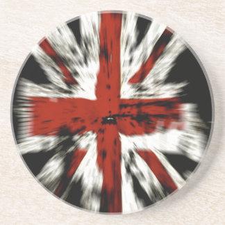 Stylized British Flag Drink Coaster