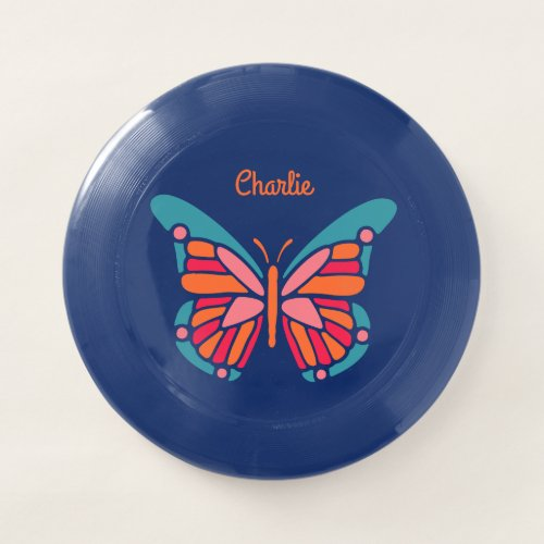 Stylized Butterfly custom name frisbee