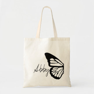 Stylized Butterfly Customizable Design Budget Tote Bag