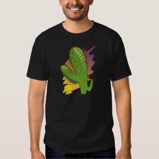 Stylized Cartoon Cactus at Sunset T-shirt