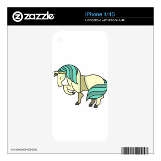 Stylized Cartoon Horse Decals For The iPhone 4S