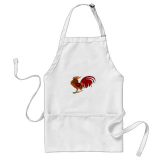 Stylized Cartoon Rooster Adult Apron