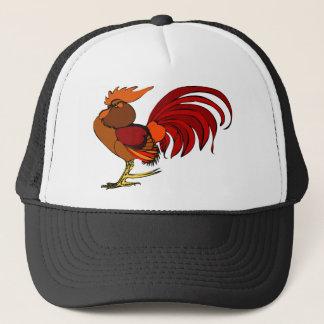 Stylized Cartoon Rooster Trucker Hat