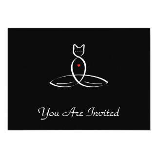 Stylized Cat Meditator Card