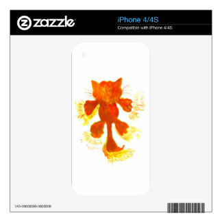 Stylized Cat Silhouette Decals For iPhone 4S