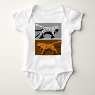 Stylized cat vector baby bodysuit