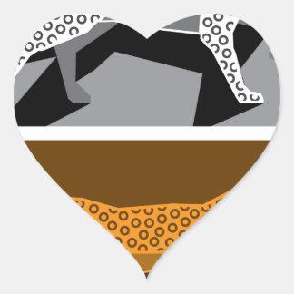 Stylized cat vector heart sticker