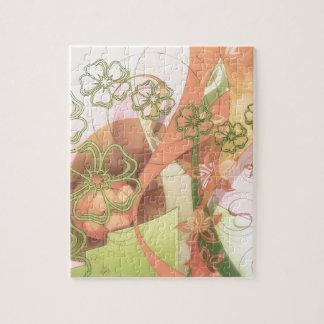 Stylized Cherry Blossoms Jigsaw Puzzle