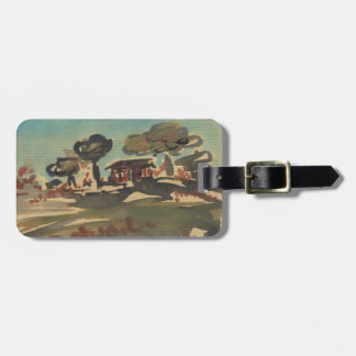 Stylized Chinese Landscape Art Tag Tag For Luggage