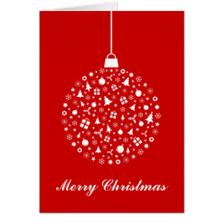 Stylized Christmas Ornament Design Cards