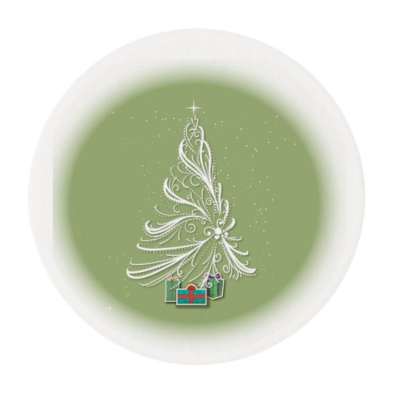 Stylized Christmas Tree -Edible Frosting Edible Frosting Rounds