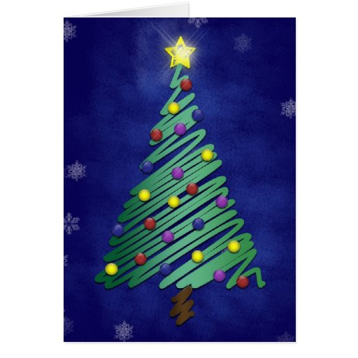 Stylized Christmas Tree Holiday Card