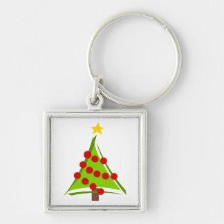 Stylized Christmas Tree Key Chain