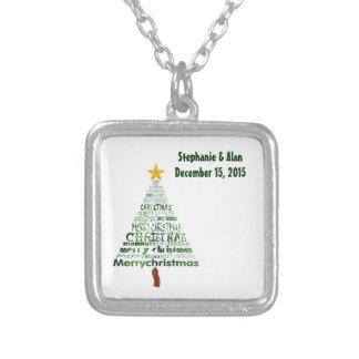 Stylized Christmas Tree Wedding Necklace
