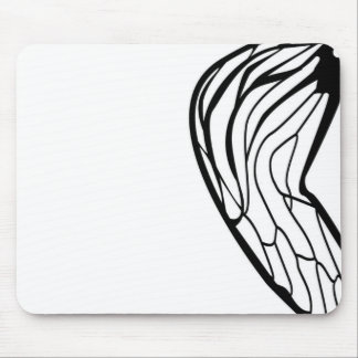 Stylized Cicada Wing Design Mouse Pad